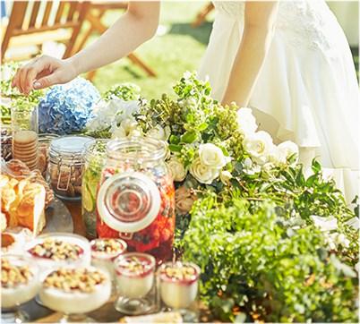 ビュッフェテーブル装花